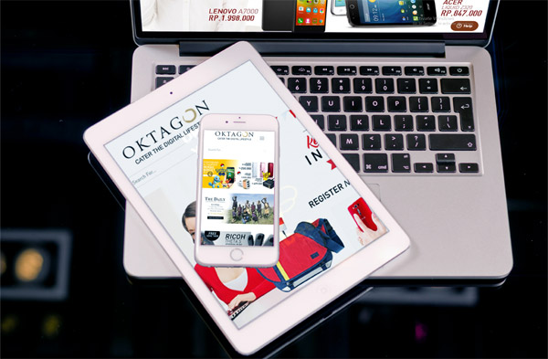 Our client's e-commerce, Oktagon is the example of a responsive website